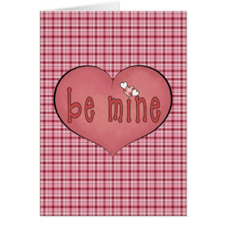 Heart on Heart Be Mine Valentine's Day Card