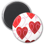 Heart on Hearts Valentine Magnet