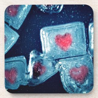 Heart on Ice Coaster