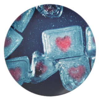 Heart on Ice Party Plates