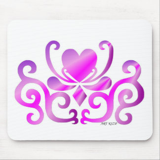 Heart on lily - rainbow mouse pad