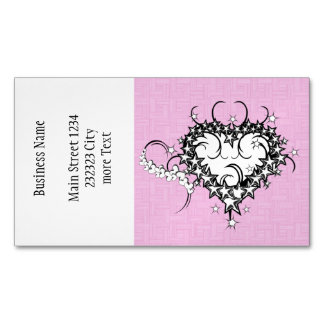 Heart on pink Tattooed Magnetic Business Card