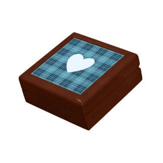 Heart on Plaid Blues II Gift Box