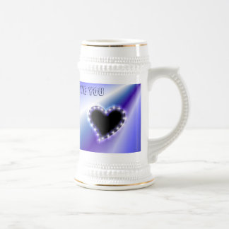 Heart on PUR-polarizes Rainbow Beer Stein
