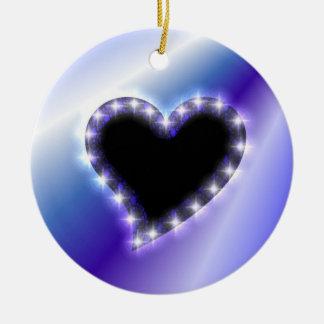 Heart on PUR-polarizes Rainbow Ceramic Ornament