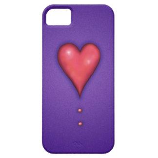 Heart on Purple iPhone SE/5/5s Case