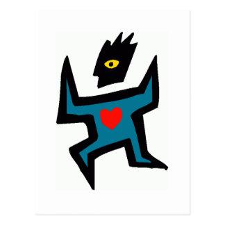 heart on the run postcard