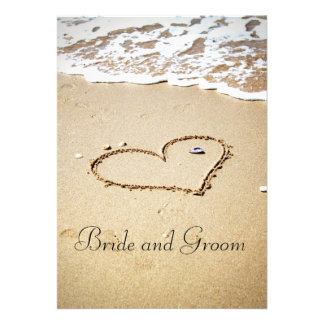 Heart on the Shore Personalized Invite