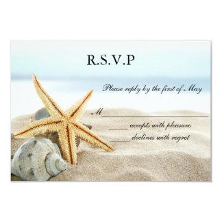 Heart on the Shore Wedding RSVP Card Invitation