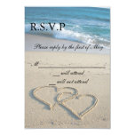 "Heart on the Shore Wedding RSVP Cards Invitation 3.5"" X 5"" Invitation Card"