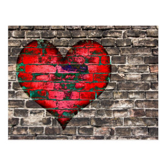 heart on the wall postcard