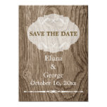 Heart on wood rustic wedding Save the Date Card