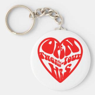 Heart Open 24 Hours Keychain
