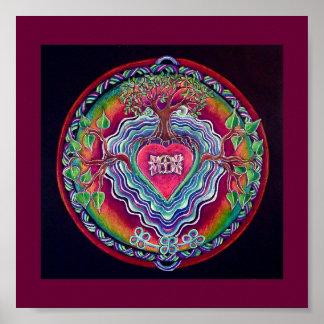 Heart Opening Mandala Print