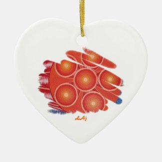 Heart  Orange Chakra Vortex Ornament