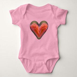 heart orange rose infant creeper