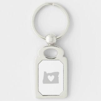 Heart Oregon state silhouette Keychain