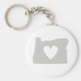 Heart Oregon state silhouette Keychain