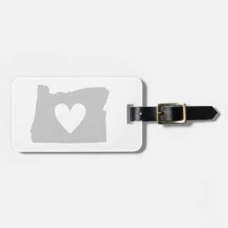 Heart Oregon state silhouette Luggage Tag