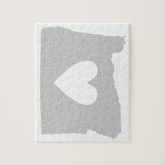 Heart Oregon state silhouette Puzzle