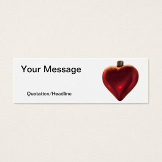 Heart Ornament - All I Want for Christmas Mini Business Card