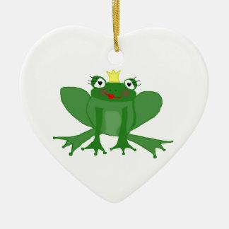 Heart Ornament Cute Princess Frog