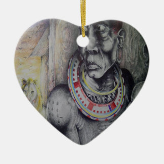 Heart Ornament Hakuna Matata with Lions-Masai.