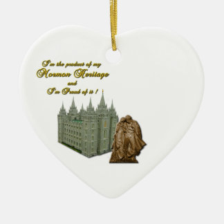 Heart Ornament - I'm Proud to be a Mormon