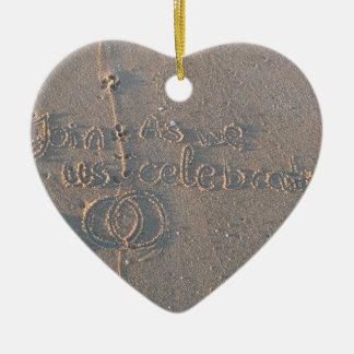 Heart Ornament Invitation