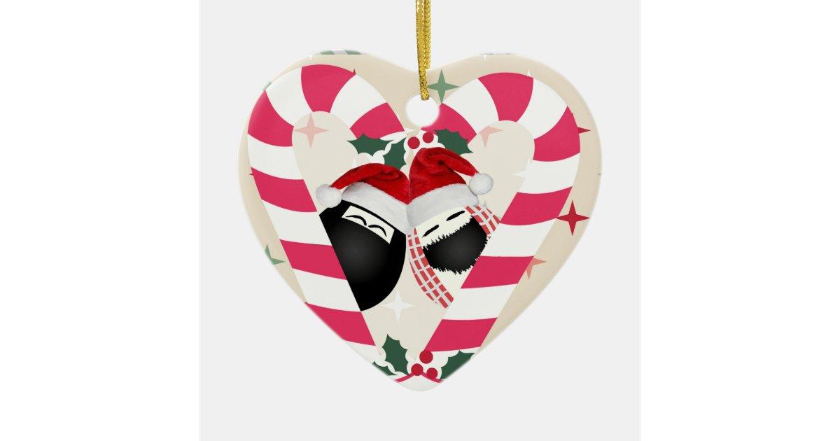 Heart Ornament Merry Christmas HABIBI | Zazzle.com