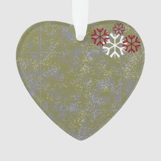 Heart Ornament with Snow Flakes
