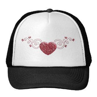 Heart ornaments trucker hat