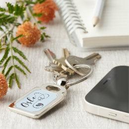 Heart Oslo Keyring, Norway Keychain