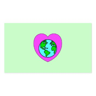 Heart Our Planet Business Card