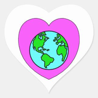 Heart Our Planet Heart Sticker