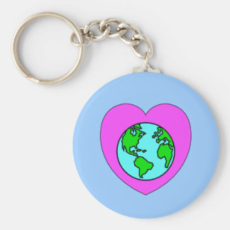Heart Our Planet Keychain