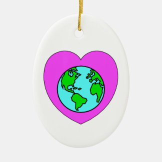 Heart Our Planet Christmas Tree Ornament