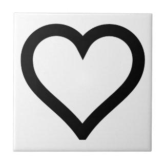 Heart Outline Ceramic Tiles