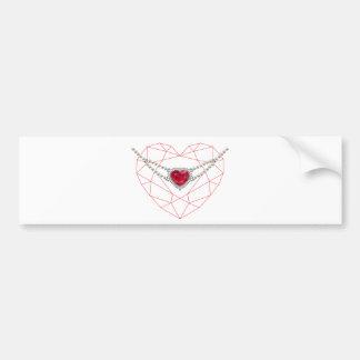 Heart over Heart Bumper Sticker