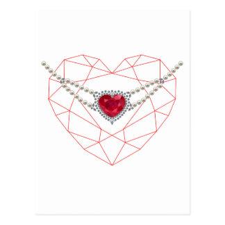 Heart over Heart Post Card