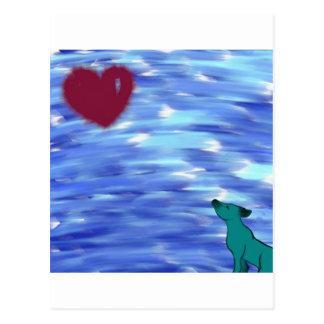 Heart over yonder. postcard