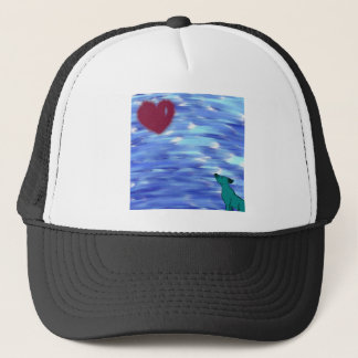 Heart over yonder. trucker hat