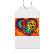 Heart Owls Gift Tags