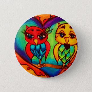 Heart Owls Pinback Button