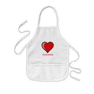 Heart Paint Smock! Kids' Apron