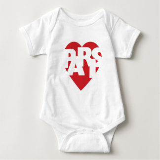 Heart Paris Baby Bodysuit