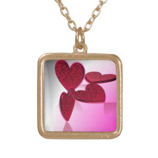 Heart Party Square Pendant Necklace