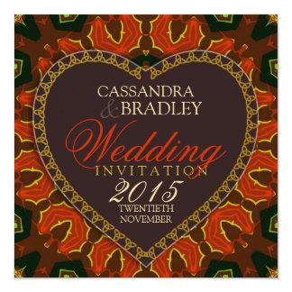 Heart Passion Fire Tribal Wedding Invitations