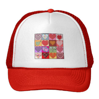 HEART PATCHES TRUCKER HAT