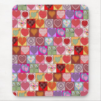 HEART PATCHES MOUSE PAD
